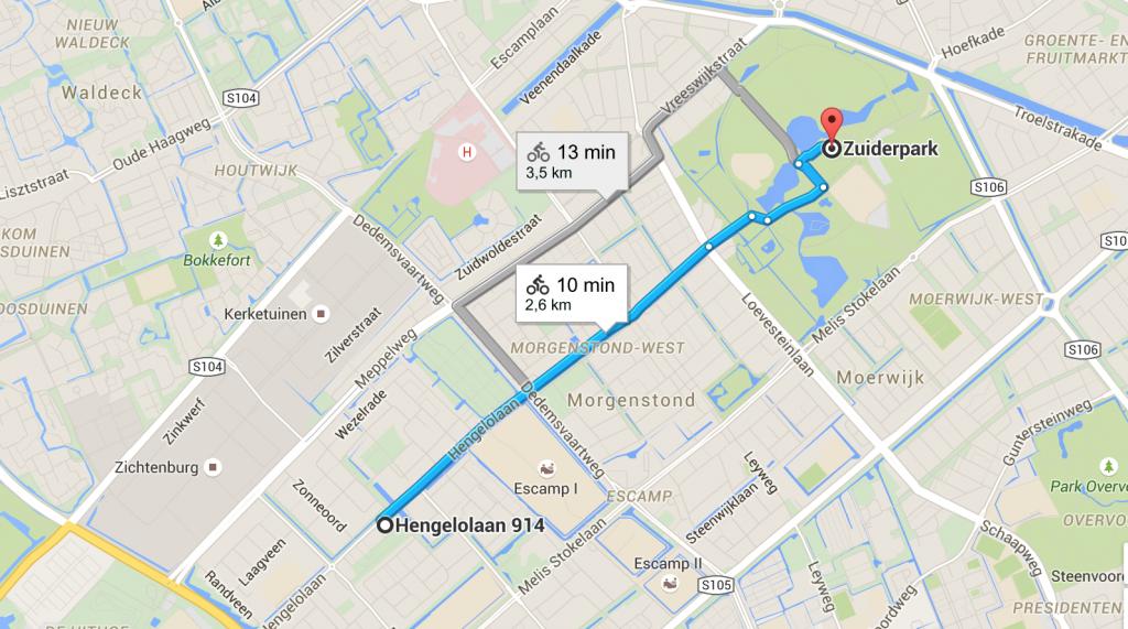 Kelias iki Zuiderpark