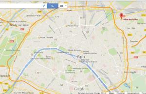 Gyvenamoji vieta žėmėlapyje (20km iki Eifelio)