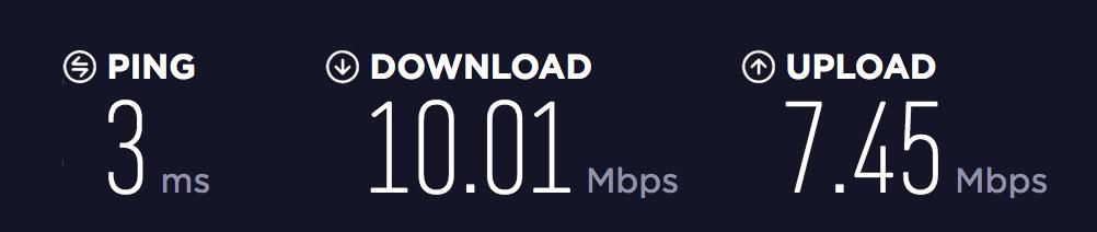 Geležinė Lapė interneto greitis