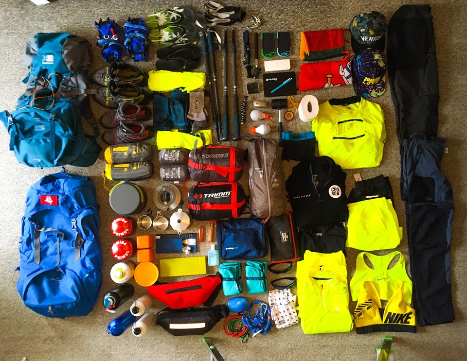 Tour du Mont Blanc daiktu sarasas